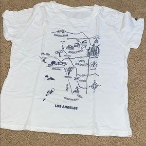 RARE: Brandy Melville Los Angeles map tee